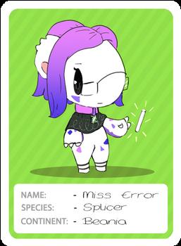 Miss Error Card