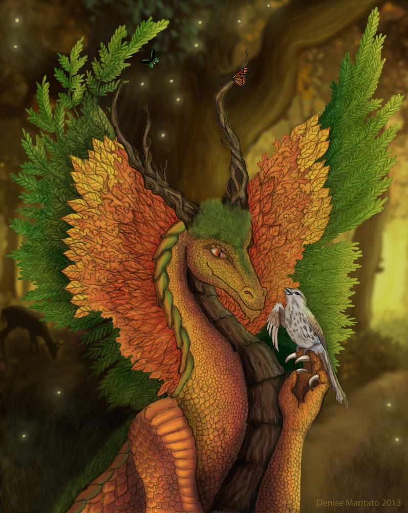Forest Dragon by Sserenita