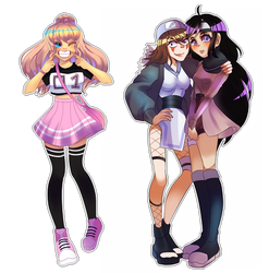 Commission | even more chibis! by AngelAik0