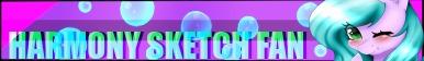 Harmony Sketch Fan Button -Free To Use- by LilBlueCupcake