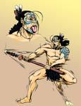 Maori with a taiaha