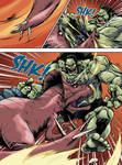 HULK 2099 vs TREX page 011 by AndronicusVII