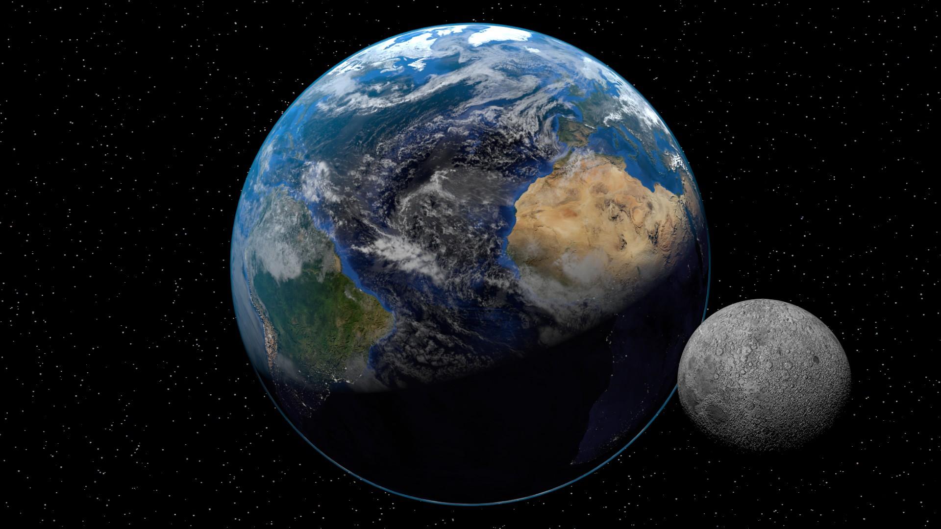 Earth 3D Art – Free wallpaper download