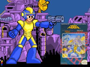 Mega Man bad box art style