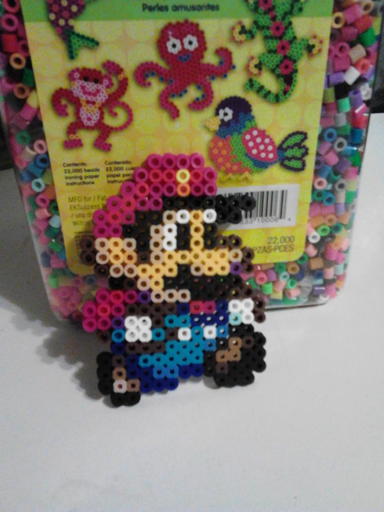Perler Mini Mario by Art-Sempai