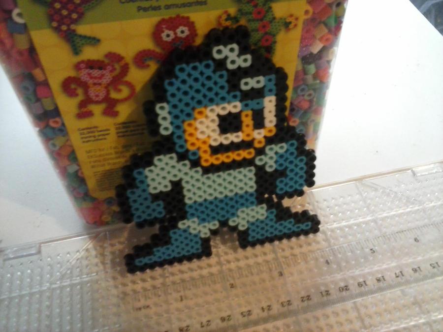 Perler Mega Man by Art-Sempai