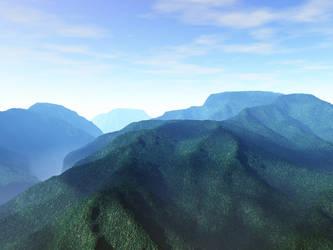 Green Hills by Art-Sempai