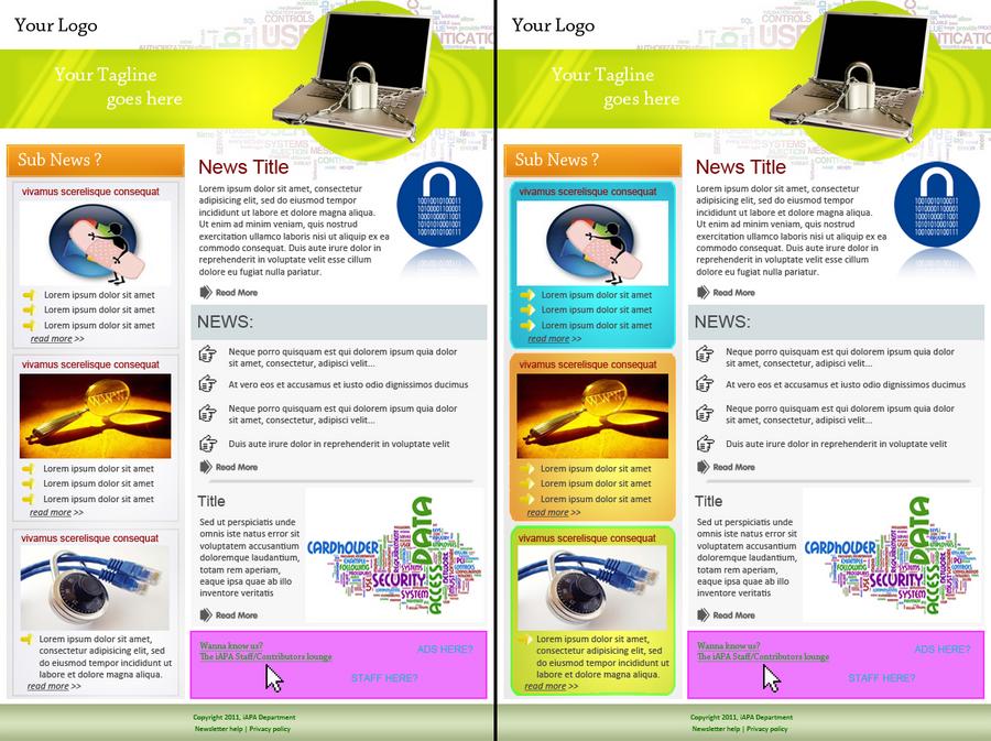 Newsletter layout -3 by kitsuneshin on DeviantArt