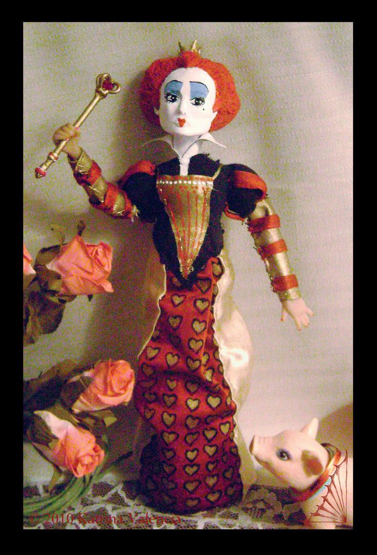 Red Queen Doll by KatisMrsLovett