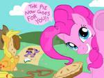 Joke pie with Pinkie Pie