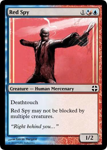 Red Spy card by OdaNobonaga