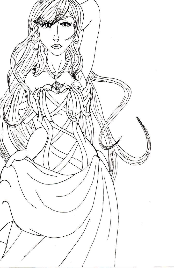 Line Art Ribbon : Raceeka in ribbons line art by tsutyfoni chan on deviantart