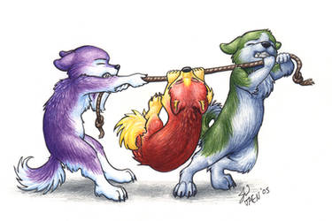 Tug-o-War  -colored- by Taen