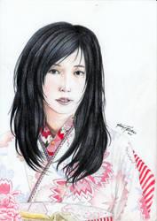 Kimono Girl Practice 1 by Shasiel