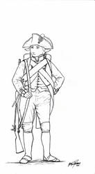 18th Century Line Infantry Sheep Person by Shasiel
