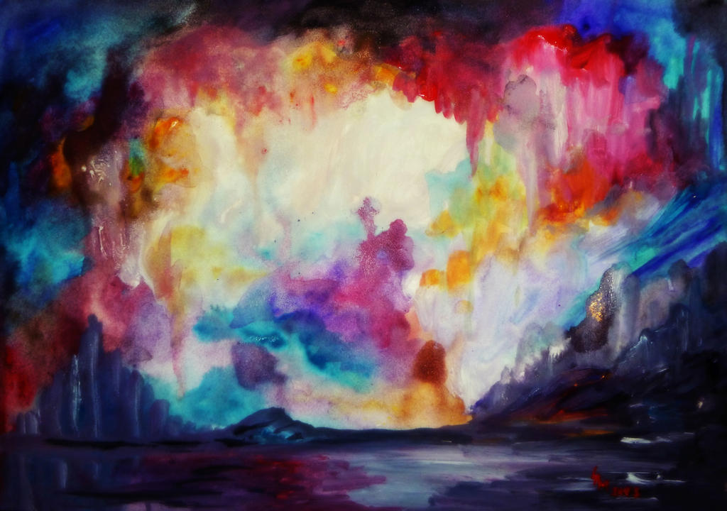 Abstract Watercolor By AlexandraDart