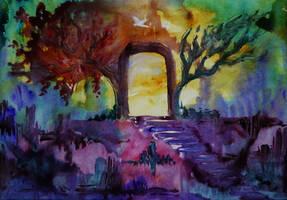 Landscape (watercolor) by AlexandraDart