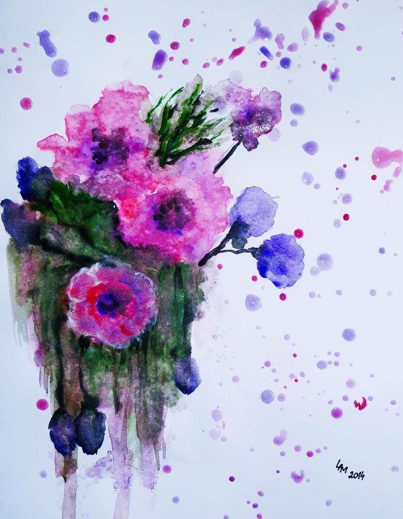 Flowers (watercolor) by AlexandraDart