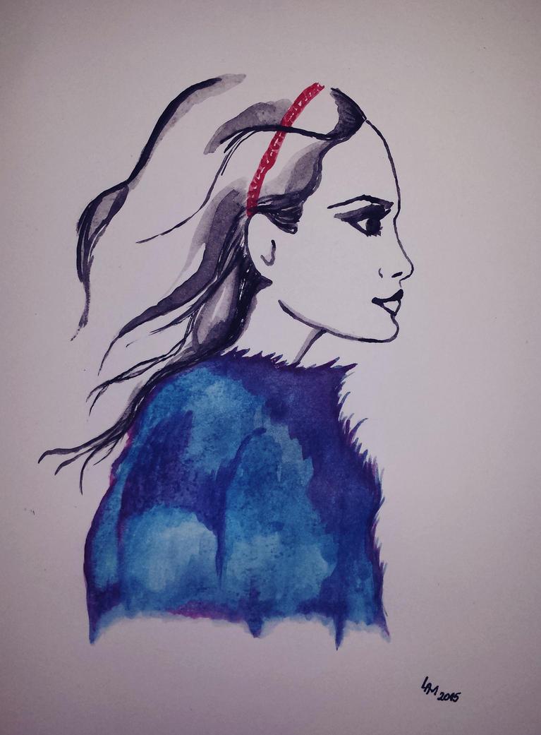 Portrait (watercolor) by AlexandraDart