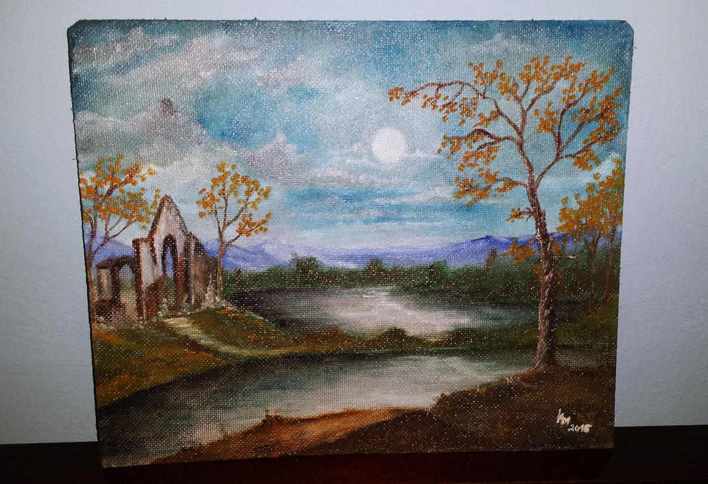 Deep Silence (oil painting) by AlexandraDart