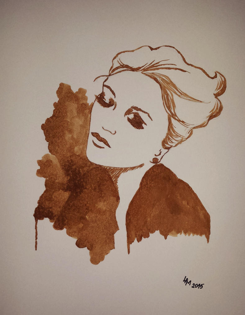 Portrait (coffee) by AlexandraDart