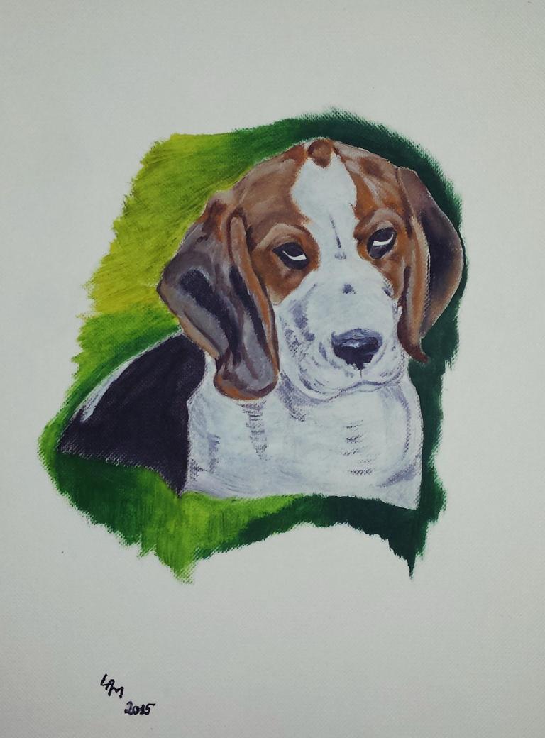 Beagle (oil painting) by AlexandraDart