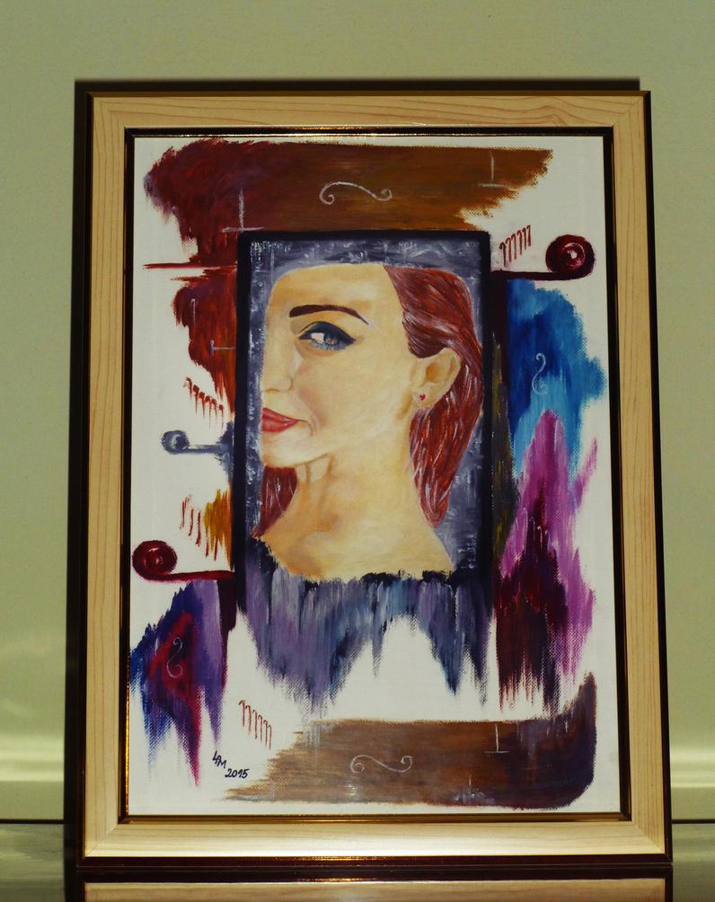 Self-Portrait (oil painting) by AlexandraDart