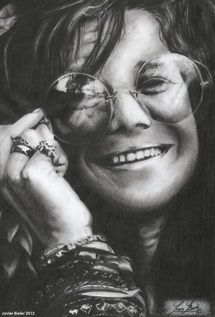 It is a photo of Comprehensive Janis Joplin Drawing
