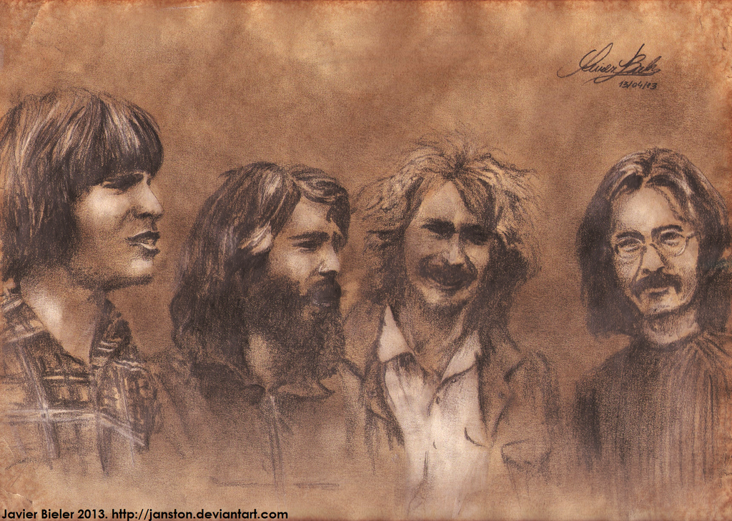 Creedence Clearwater Revival - portrait by janston