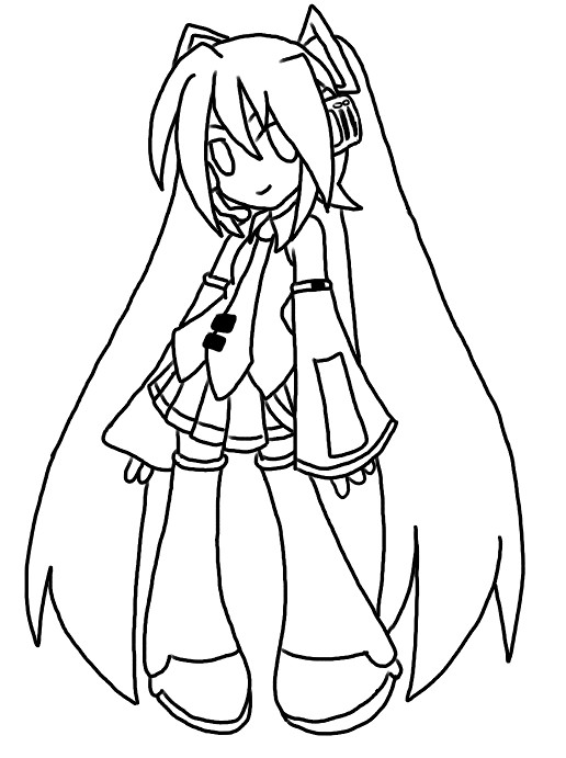 hatsune miku coloring pages - photo #33