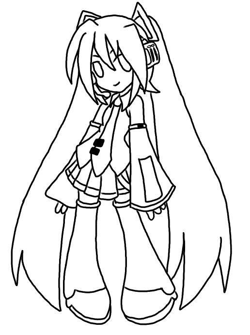 Dibujos para colorear de hatsune miku - Imagui