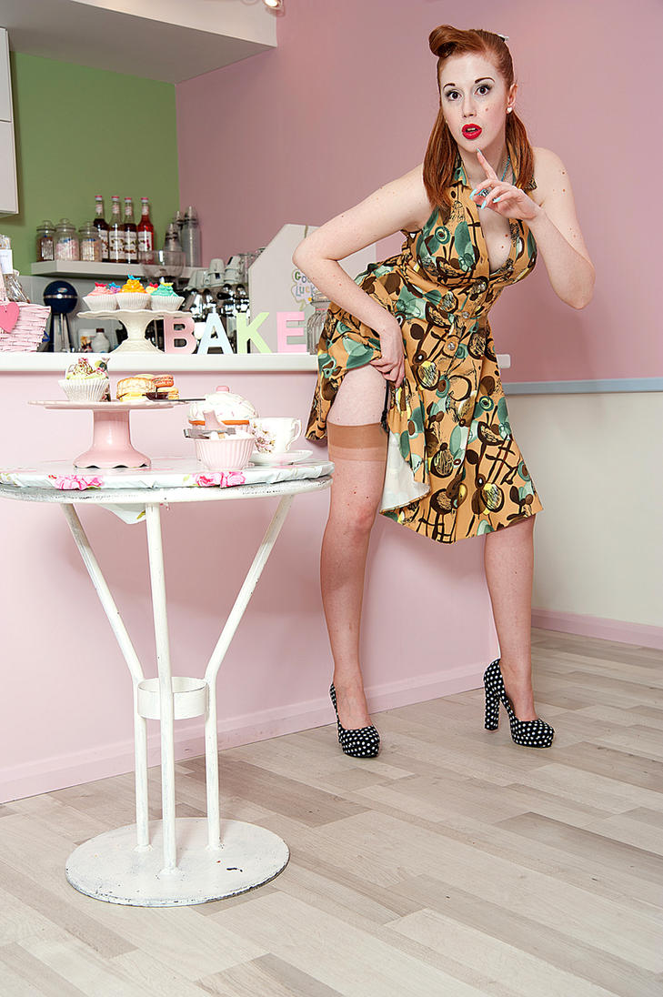 Brown dress 005 by Aurora-Dawn