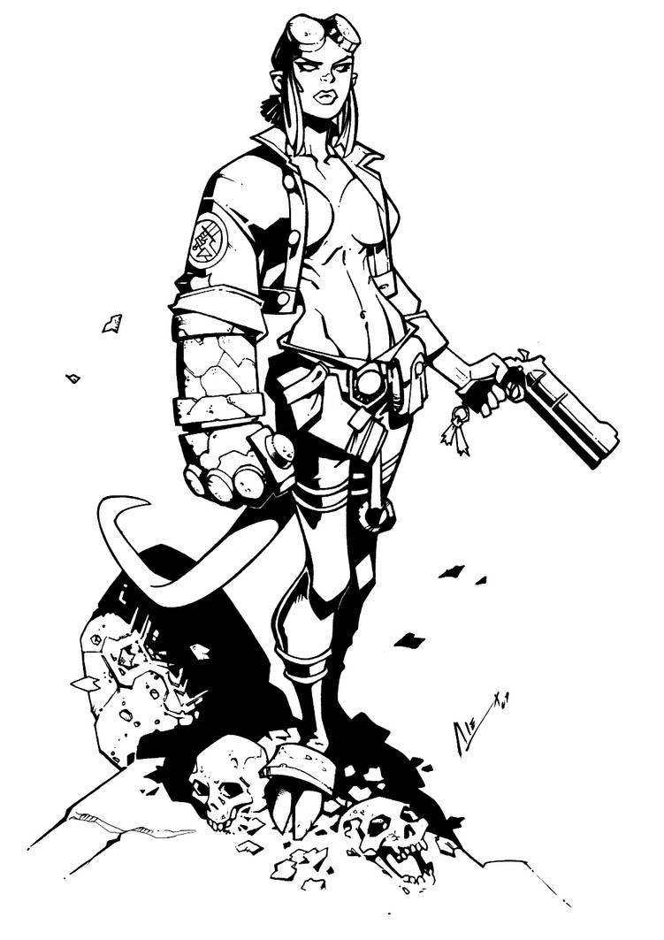 Hellgirl by Randy Inked
