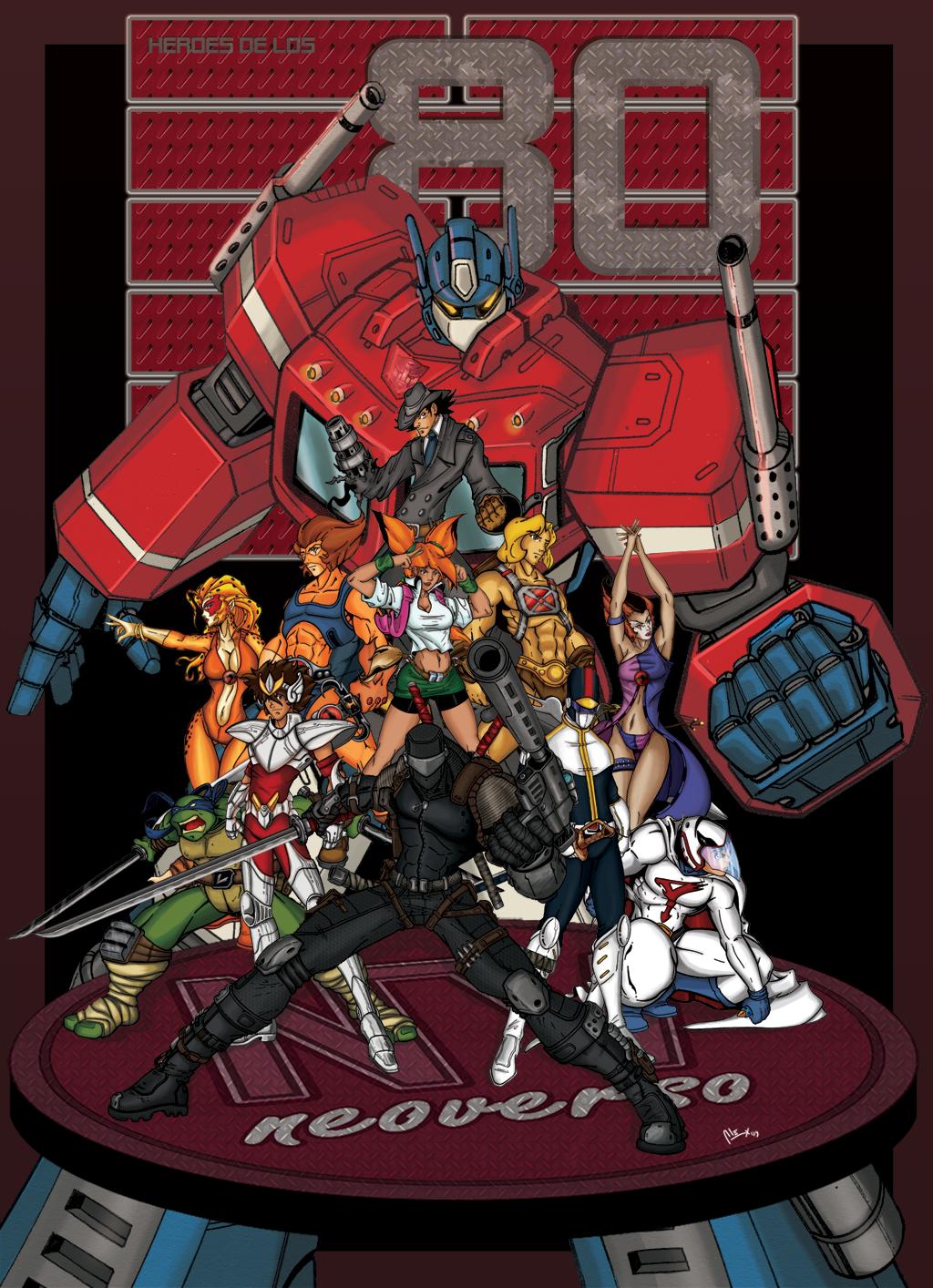 8vo Combate - LA GRAN FINAL 80s_Heroes_by_alexss