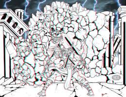 Ares against Earth Titan