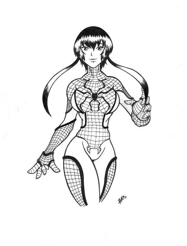 spider girl coloring pages - photo#10