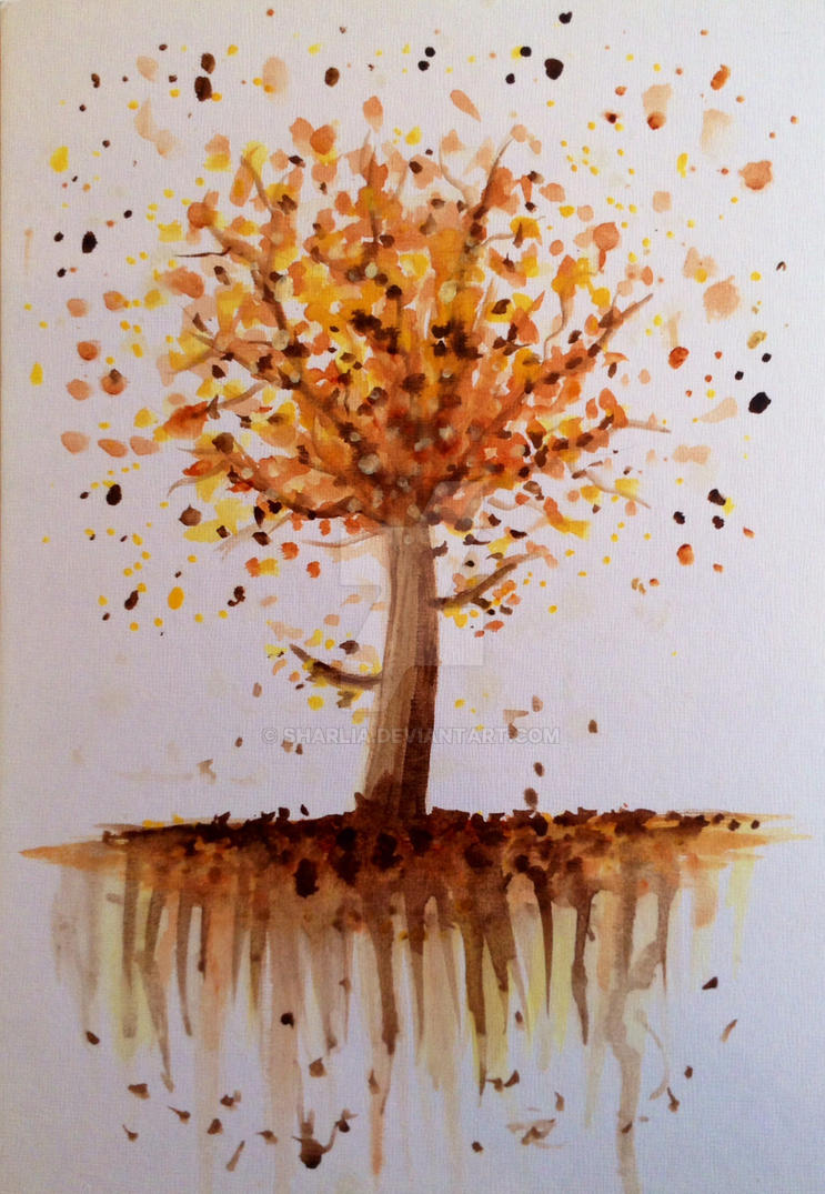 Autumn trees by Sharlia