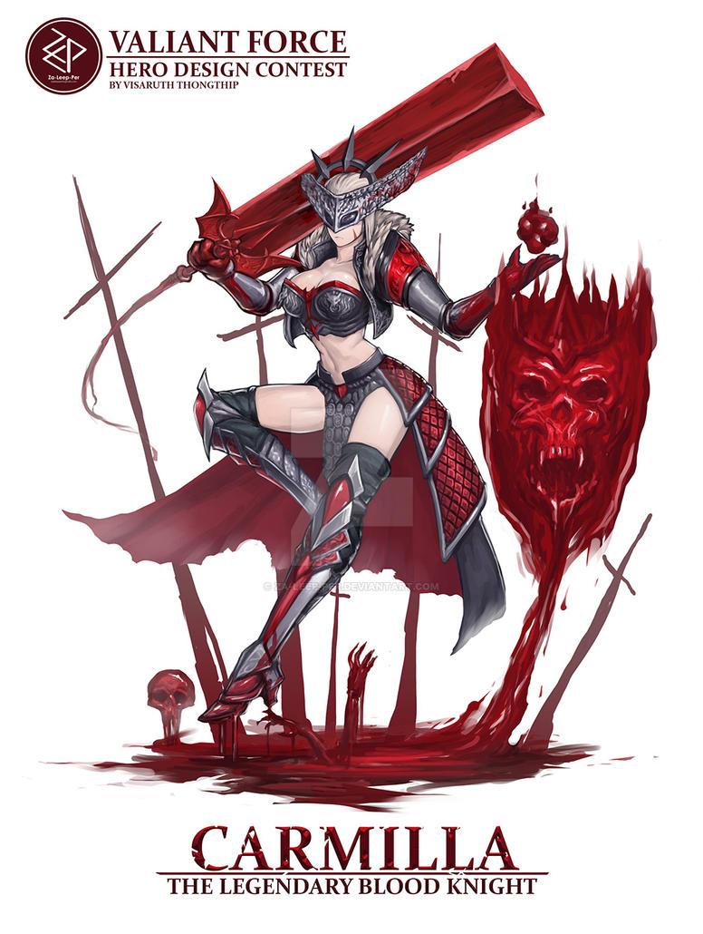 Carmilla, The Legendary Blood Knight by Za-Leep-Per