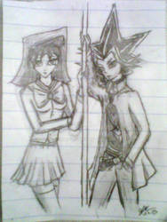 Anzu and Yami Yugi - Pencil