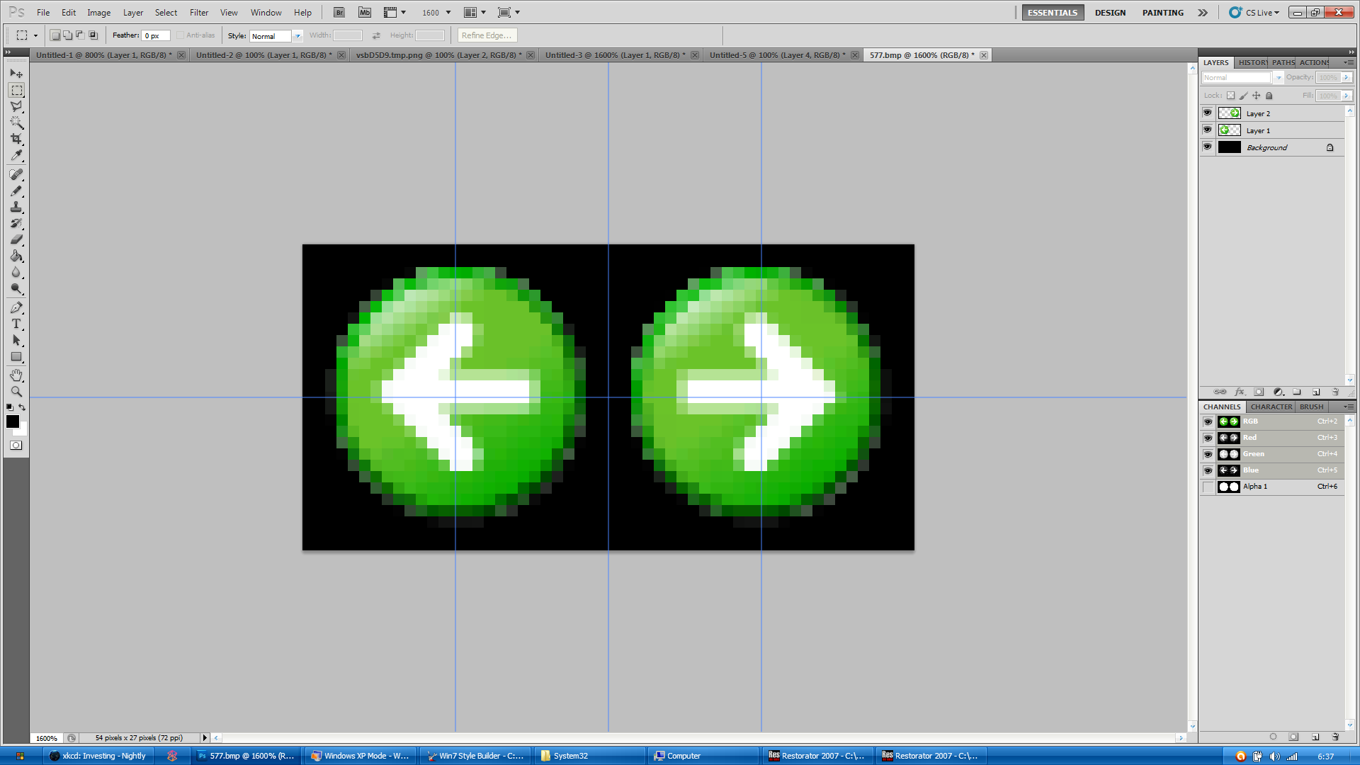 Windows XP Nav Buttons WIP by Satukoro