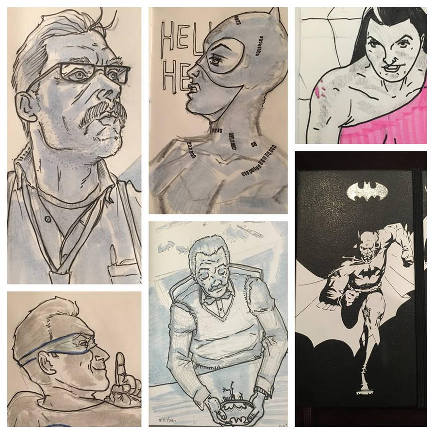 Bat-Doodles by AndyMichaelArt