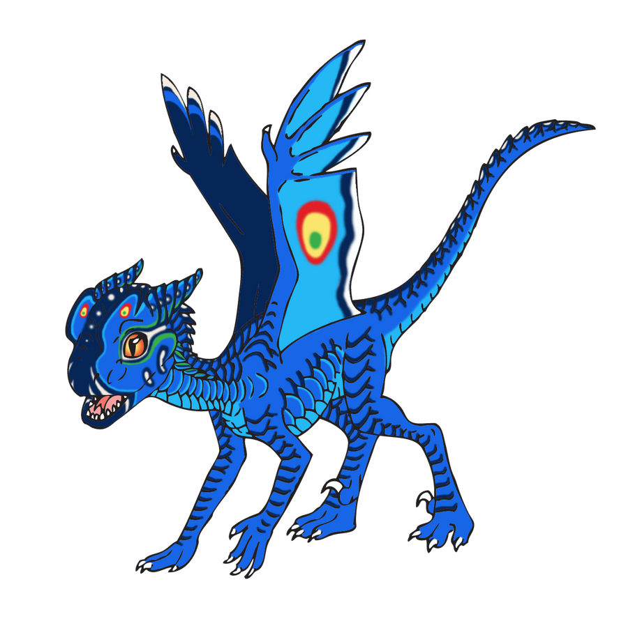 Male Double Crested Dragon by Dreamwind