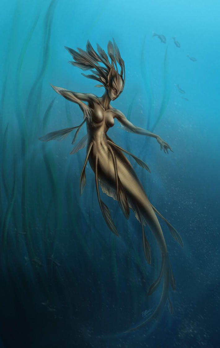 Underwater Dryad by eldridgeque