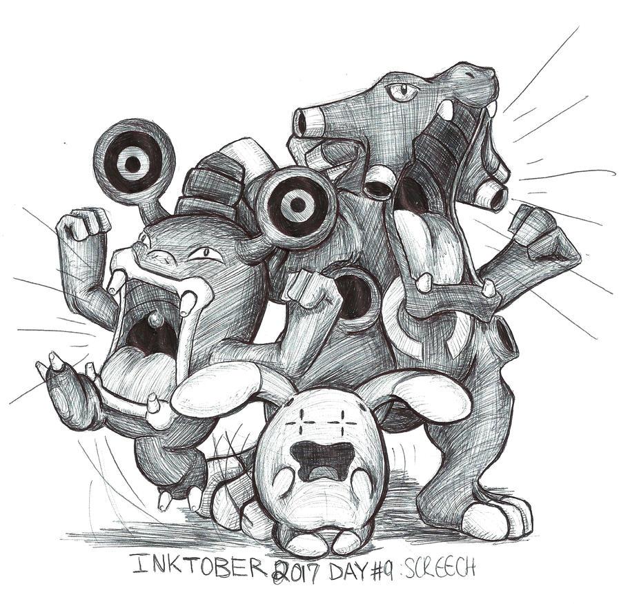 "Résultat de recherche d'images pour ""inktober 2017 day 9 screech"""