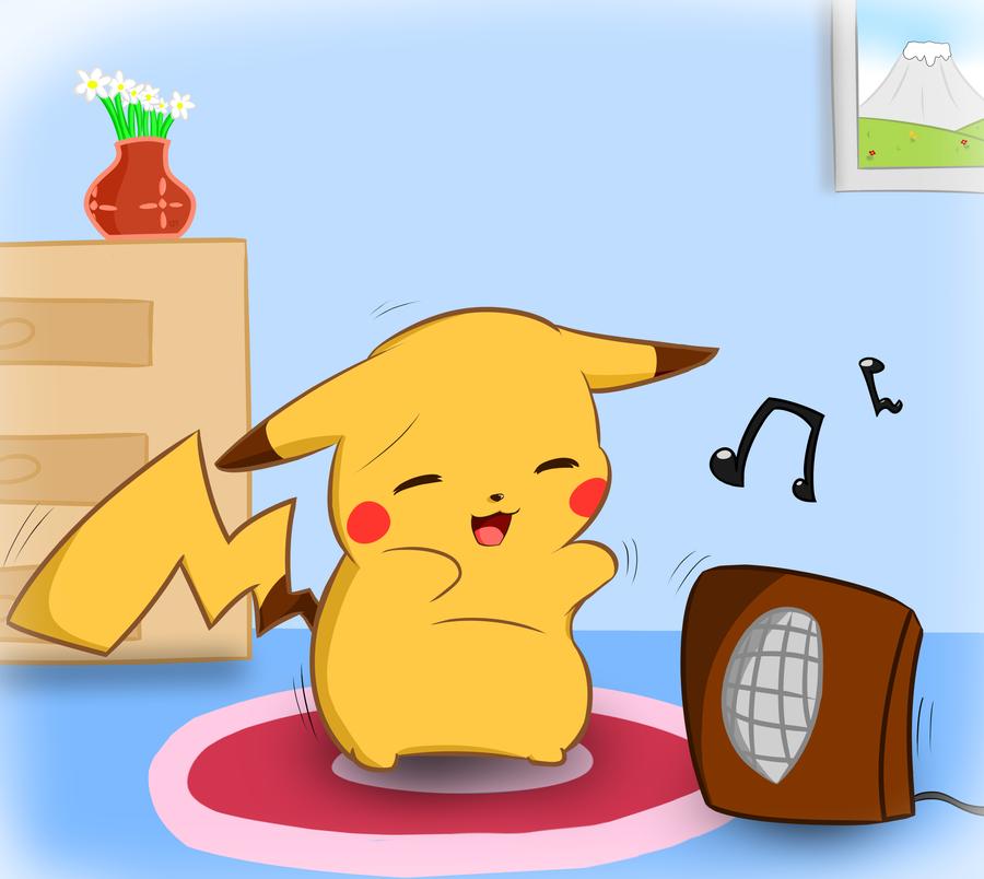 Pikachu and raichu dancing - photo#13