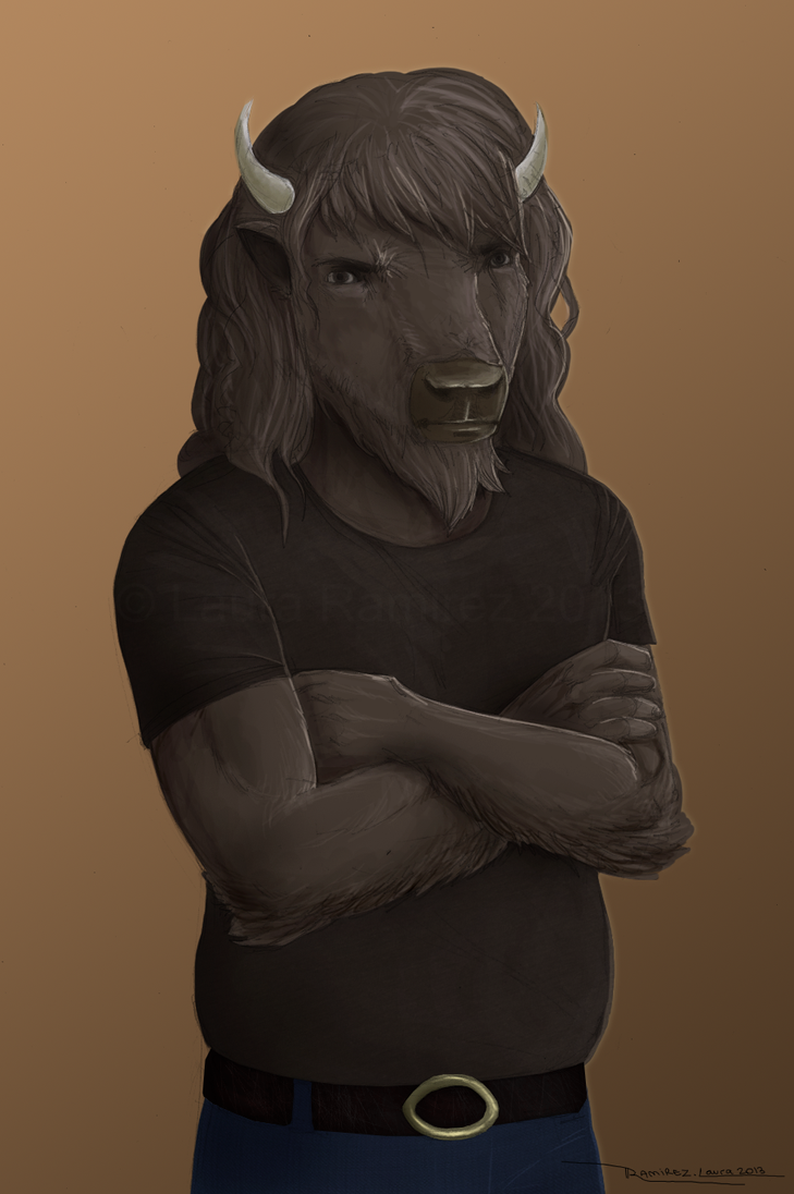 Buffalo Anthro by LauraRamirez