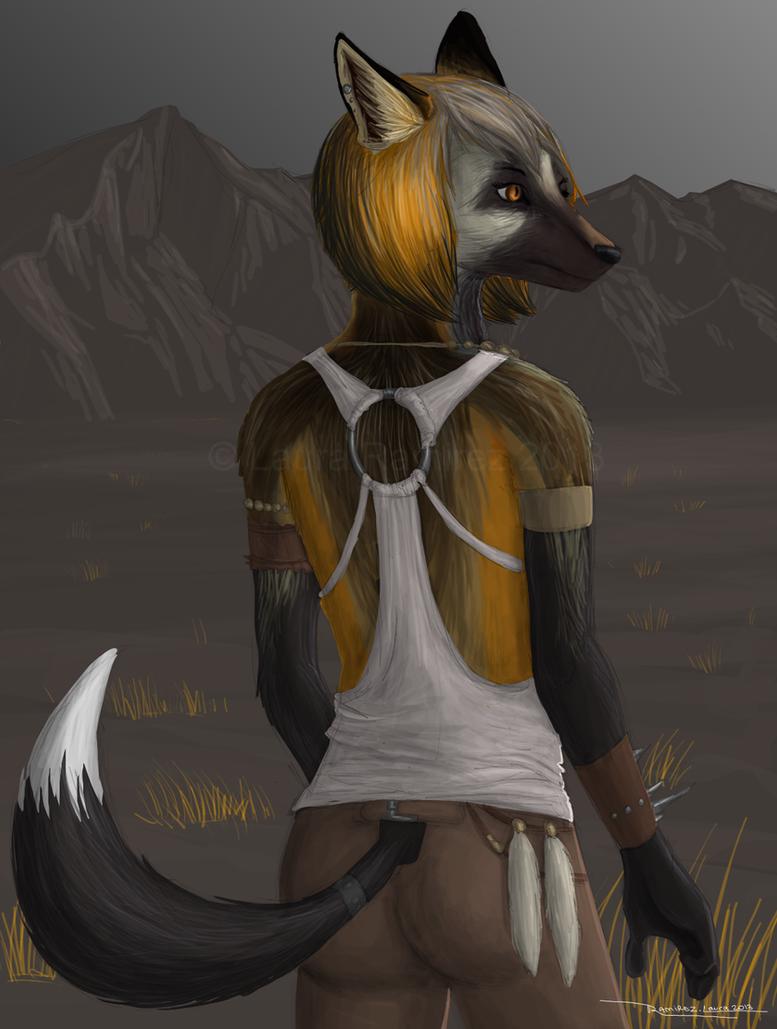Cross Fox Anthro by LauraRamirez