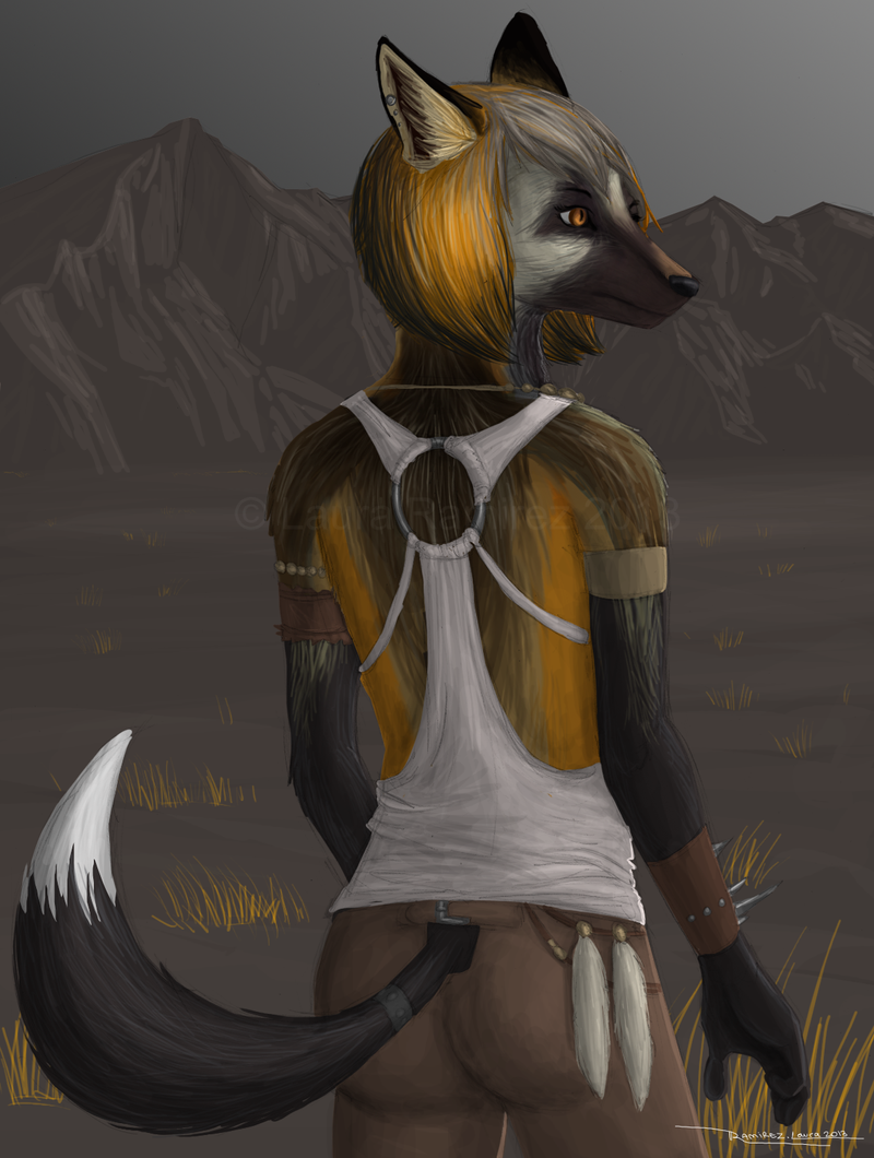 Cross Fox Anthro by LauraRamirez