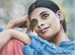 A6 pencil - Indian Girl by LauraRamirez