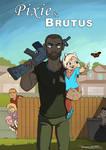 Pixie and Brutus (humanized) by LauraRamirez